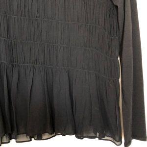 Sundance Tops - NWT Sundance chiffon layered black top M